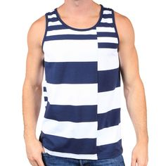 Liberty Tank Blue White by Astronomy