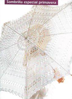 Umbrella with diagram filet work #1