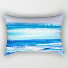 Pacific Dreams Throw Pillow  cute watercolor by ArtfullyFeathered