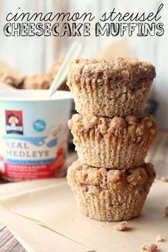 Young At Heart Mommy: Cinnamon Streusel Cheesecake Muffins