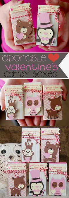 Conversation heart boxes and create a critter for valentines day class Kinder Valentines, Valentine Box, Valentine Day Crafts, Valentine Decorations, Holiday Crafts, Holiday Fun, Idee Baby Shower, Diy Gifts, Party Gifts