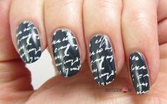 Blue LoveLetter Nails for Blue Friday #11