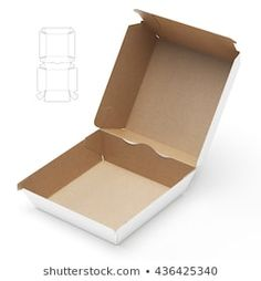 Fast Food Sandwich Burger Box with Die Line Template Rendering Box Packaging Templates, Burger Box, Silhouette Projects, 3d Rendering, Images, Ideas, Clothing Packaging, Packaging, Digital Scrapbooking