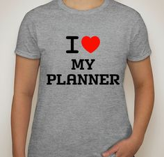 I Love my planner shirt.womens tshirt.planner shirts.girls shirts.girls t-shirts.womens clothing.t-shit.womens t-shirt.planner. by ECVinylSupply on Etsy