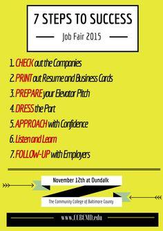 Awesome Checklist For Job Fair Success!