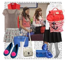 """""""Shake It Up - Rocky e Cece"""" by bellla-zendaya ❤ liked on Polyvore featuring Coleman, Wildfox, DKNY, Brunello Cucinelli, Bardot, Miu Miu, Click, Mulberry, The Cambridge Satchel Company and Tory Burch"""