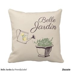 Belle Jardin Throw Pillows