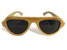 14fee2cb342 NOOICE Mens 55mm Black Lens Aviator Polarized Bamboo Sunglasses   gt  gt  gt  Click