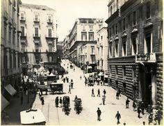 Napoli via monteoliveto nel 1885-90. c