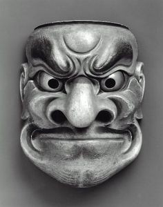 No mask of the Obeshimi type  能面 大癋見  Japanese, Edo period, 18th century, Deciduous wood, MFA
