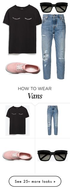 """Untitled #188"" by summer-zou on Polyvore featuring Zara, Levi's, Vans and Yves Saint Laurent"