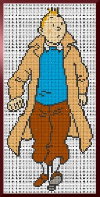 A free Tin-Tin cross stitch chart! It's quite large, but looks great to stitch.