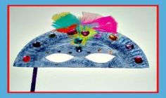 Easy Paper Plate Mardi Gras Mask Craft For Kids!