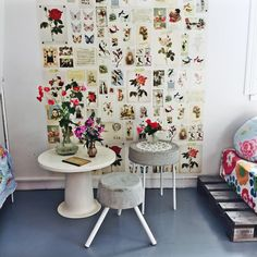 DIY concrete table with lace decoration and easy stool- Check the video with instruction  http://www.radioaalto.fi/#!/post/560cf24f1f2f1f0300182d5f