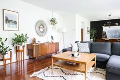 Kathy Davies and James Binde's Michigan home, featuring our Souk Rug and Mobile Chandelier. Seen on Apartment Therapy