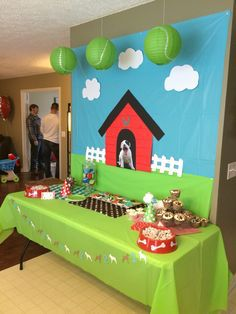 Puppy Party Dessert Table Backdrop
