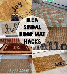 Ikea Sindal Five Dollar Door Mat Hacks  voor ons een aantal aan elkaar, evt. met bruine stippen erop