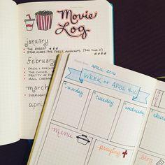 Movie Log & Weekly Layout