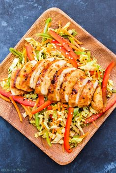 This Korean Barbecue Chicken with Asian Coleslaw has the perfect balance of savory, spicy and sweet flavors. It's a meal the whole family will love!