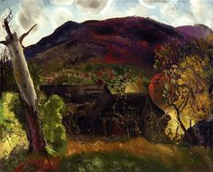 Blasted Tree and Deserted House by George Bellows