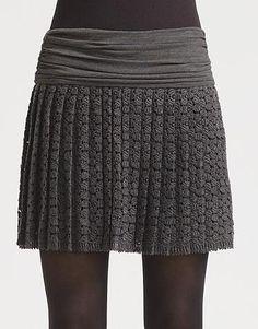 Diane von Furstenberg Dublette Crochet Lace Skirt-Wonder if I could make something similar?
