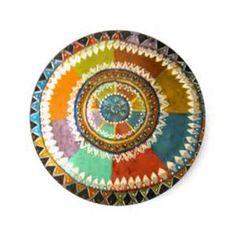 tampo da mesa colorido de IMG_2479.jpg Adesivo Em Formato Redondo …