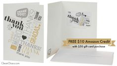 Free $10 Amazon promotional credit with gift card purchase, through 5/31/15.