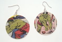 If you're a huge fan of comics, why shouldn't you make them part of your wardrobe? Of course you can showcase the designs on shirts, but it would be much more interesting to wear them as jewelry. These comic book earrings are easy to make and would add a unique touch to your outfit.