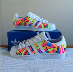 Custom adidas superstars by ButterfaceClothing on Etsy