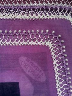 pretty sure this is oya, but it also looks like some mignonette tatting was done also [] # # Popsicle Stick Crafts, Craft Stick Crafts, Diy And Crafts, Crochet Fabric, Crochet Lace, Hand Embroidery Designs, Beaded Embroidery, Saree Border, Embroidery