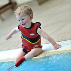 Make sure the tiniest members of the family are warm in the water this summer with the Konfidence Nautical Babywarma Wetsuit from Wellies and Worms £16.95