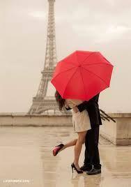 Kysse i Eiffeltårnet