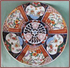 Lovely Handpainted Imari Pottery Bowl Plate Made In Japan