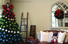Nutcracker and Colorblock Christmas Decor