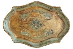 Gold & Green Florentine Tray