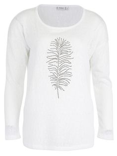 Just Arrived: Fransa White Feather Top