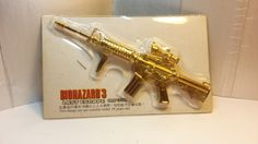 Rare Hong Kong Capcom Comic BIOHAZARD 3 Last Escape Promo Assault Rifle Gold Metal Toy by MyCoffeeBoy on Etsy