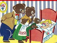 Vogart 295 Goldie locks & The Three Bears for linens a 1950s hand embroidery pattern.