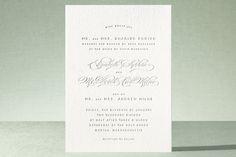 Gracieux Letterpress Wedding Invitations