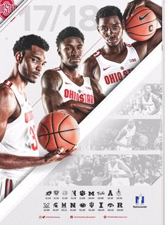 Ohio State Basketball Schedule Poster on Behance Basketball Schedule, Basketball Posters, Basketball Design, Basketball Pictures, Love And Basketball, Basketball Hoop, Sports Posters, Basketball Cupcakes, Basketball Tattoos