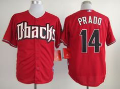 MLB Arizona Diamondbacks #14 PRADO RED JERSEY FJ