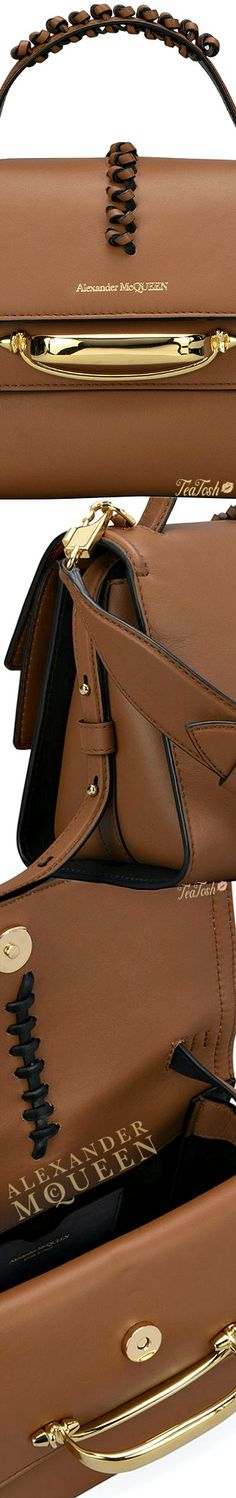 ❈Téa Tosh❈ #Alexander McQueen, The Story Crossbody Top-Handle Bag #Bag #teatosh