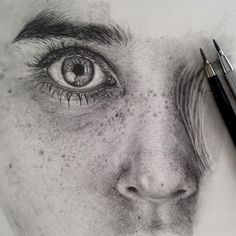 Stunning Photo Realistic Graphite Drawings by Monica Lee portraits photorealism hyperrealism graphite