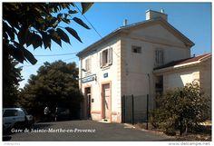 Gare de Sainte-Marthe-en-Provence , Bouches-du-Rhône - une photo reproduite…