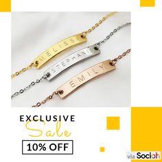 Black And Silver Earrings Monogram Bracelet, Engraved Bracelet, Name Bracelet, Personalized Bracelets, Bridal Bracelet, Personalized Wedding Gifts, Bracelet Making, Wedding Jewelry, Silver Earrings