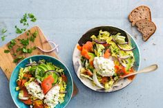 Avocado salad with cottage cheese and smoked salmon - recipes Orzo, Cooking With Kids, Cooking Time, Quinoa, New Recipes, Salad Recipes, Smoked Salmon Recipes, Valeur Nutritive, Chinese Cabbage