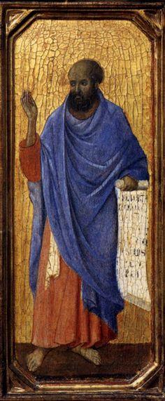 Maestà (front, predella D) The Prophet Ezekiel (Duccio di Buoninsegna, 1308-11)b
