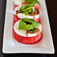 Watermelon and Feta Salad... what a delicious sweet and savory combination!