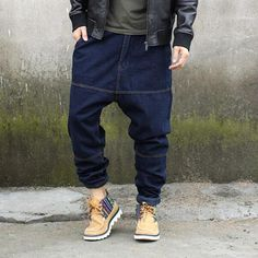 >> Click to Buy << Men Low Crotch Jeans Harem Jeans Hip Hop Baggy Fit 2017 New Fashion Plus Size Man Jeans Streetwear Hiphop Free Shipping #Affiliate