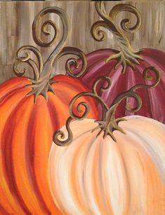 Best Painting Ideas Canvases Pumpkin Ideas You are in the right place about kids halloween masks Her Autumn Painting, Autumn Art, Tole Painting, Diy Painting, Painting & Drawing, Fall Paintings, Fall Canvas Painting, Diy Canvas, Pumpkin Painting